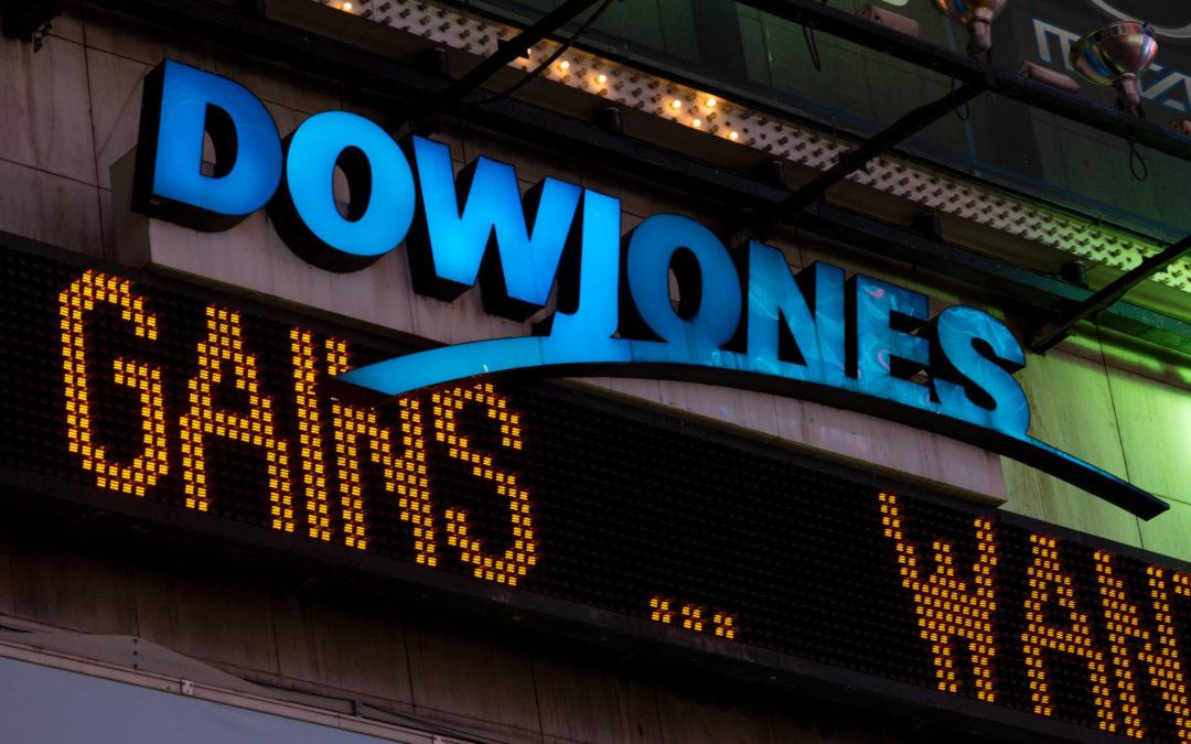 Dow Jones scende ma i traders credono nel progetto