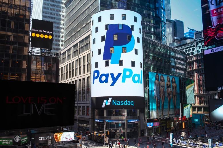 Le azioni Paypal crescono del 43% nel 2019