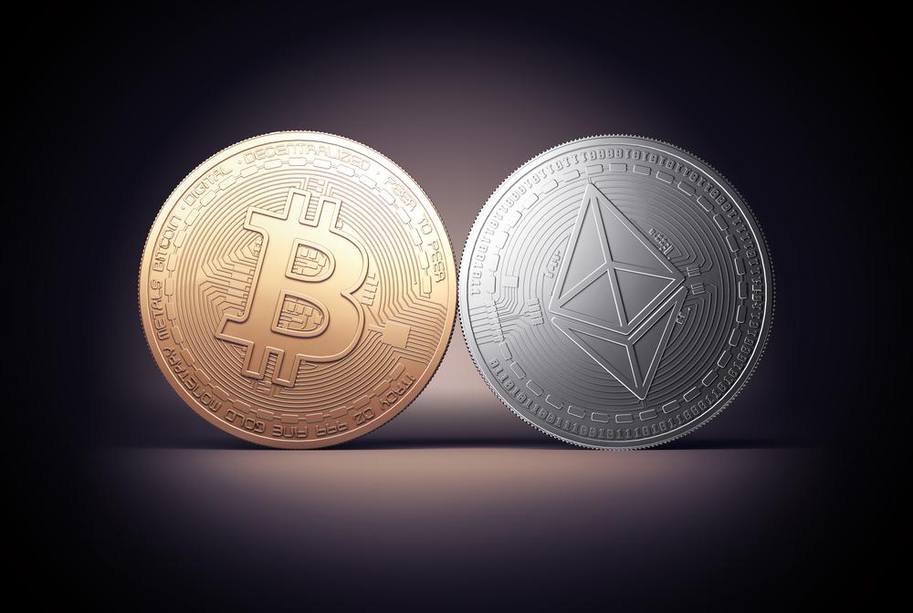 Bitcoin ed Ethereum salgono in pochi minuti del 5%