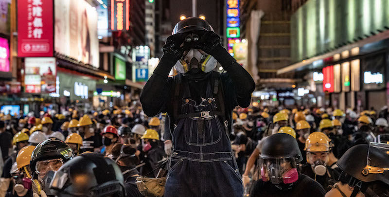 I futures di Dow Jones cadono sulle proteste di Hong Kong