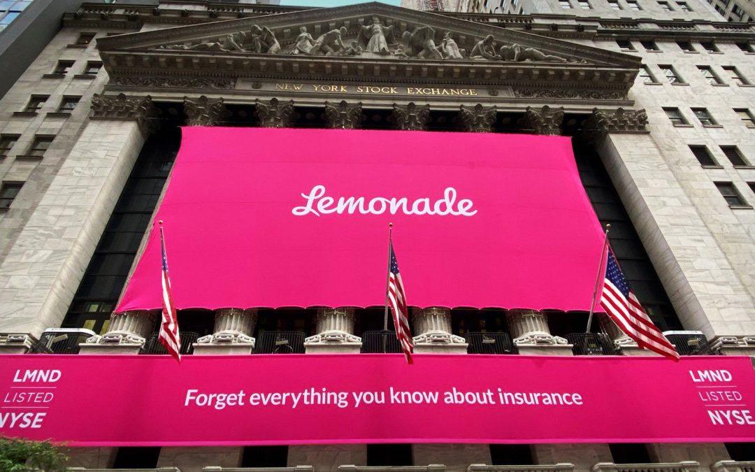 IPO Lemonade da record, miglior debutto negli USA con il 140% di guadagni