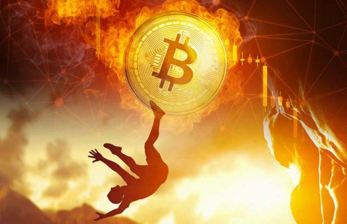 Quotazione Bitcoin in rosso in controtendenza con Wall Street