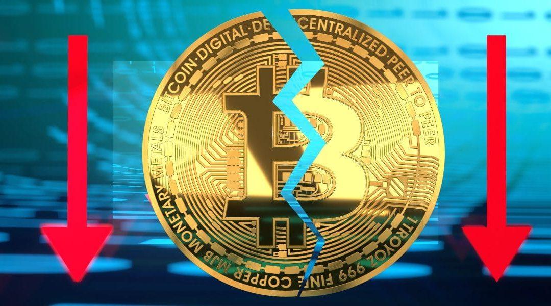 Bitcoin crolla al minimo di 10 giorni, giù tutte le criptovalute